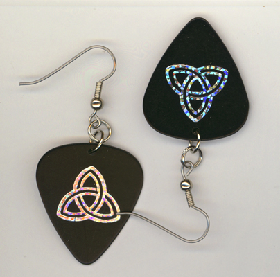 black trinity gp earrings