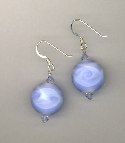 baby blue lw crytal earrings