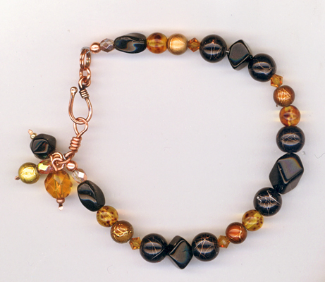 golden tiger beaded bracelet