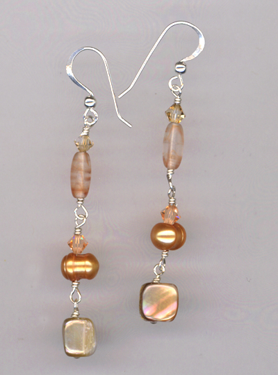 Bronze Pearl Beauty Earrings