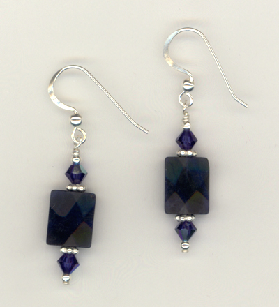 Midnight Lapis Blue Gemstone Earrings