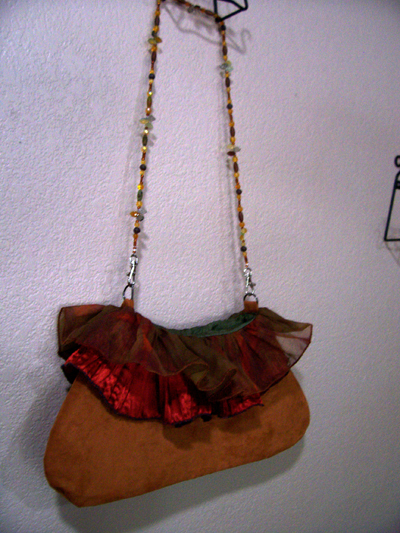 Falling Into Autumn Beaded Ruffled Purse