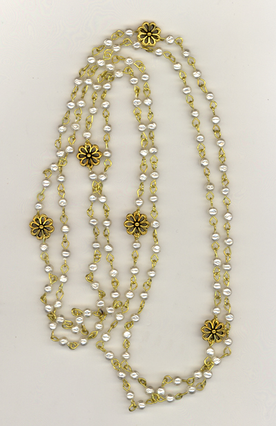 Pearls Of Gold Necklace