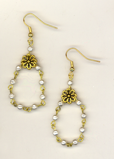 Pearls Of Gold Earrings