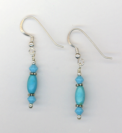 turquoise sky crystal earring