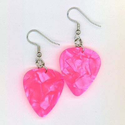 guitar pick pearl pink