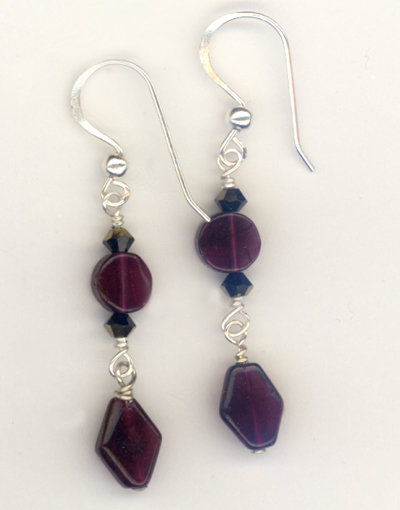 Gala Garnet Crystal Earrings