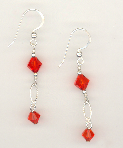 Hyacinth Eveing Crystal Earrings