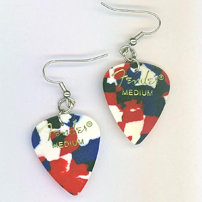 Guitar Pick Red White & Blue Confetti