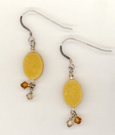 Pumpkin Pie Jade Crystal Earrings