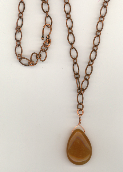 Caramel Copper Chain Necklace