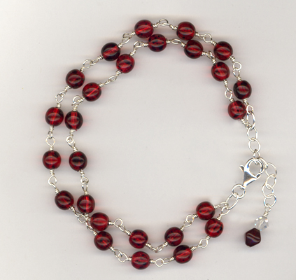 Red Double Delight Sterling Bracelet