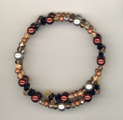 Flaming Heart Memory Wire Bracelet