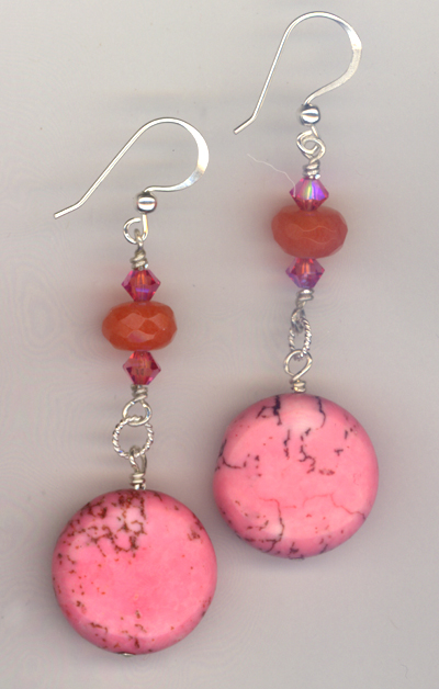 Tickle Pink ~ Gemstone Earrings