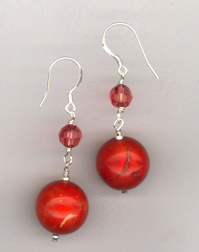Cherry Jawbreakers ~ Gemstone Earrings