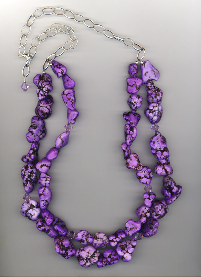 Purple Nuggets ~ Gemstone Necklace