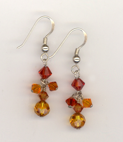 Sizzle Salsa  Swarovski Crystal Earrings