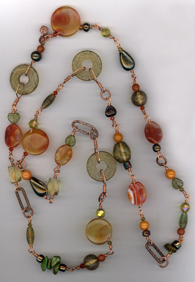 Harvest Copper Link Necklace
