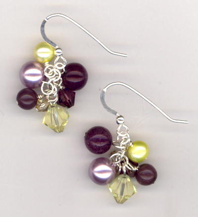 Purple Velvet Lux Earrings