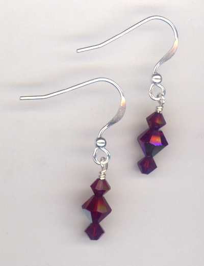 Chirstmas REd Crystal Earrings