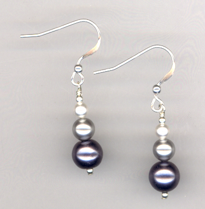 Sophisticated Stacked Pearl Earrings