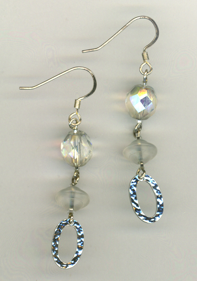 Holiday Silver Sparkle Crystal Earrings