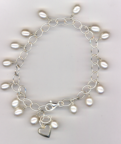 Tears Of Joy White Pearl Bracelet