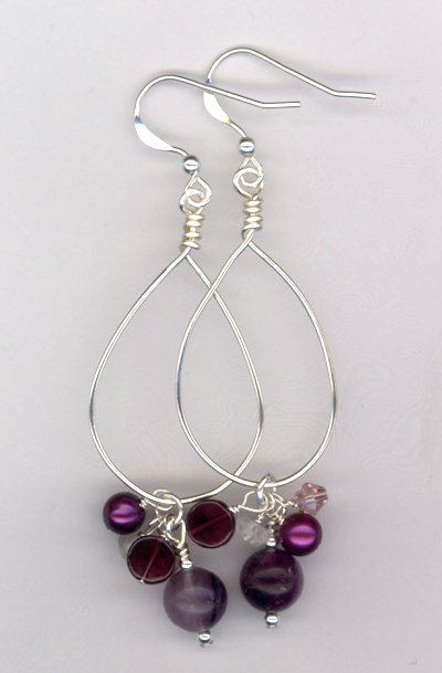 Purple Delight Hoop Earrings