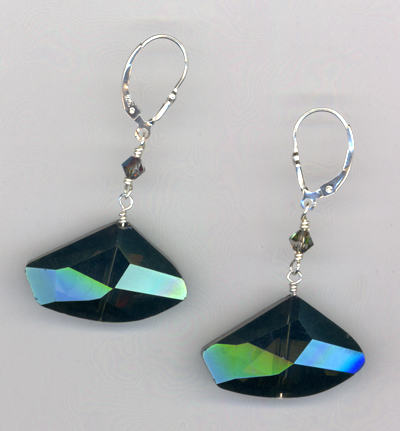 Galactica Blue Crystal Earrings