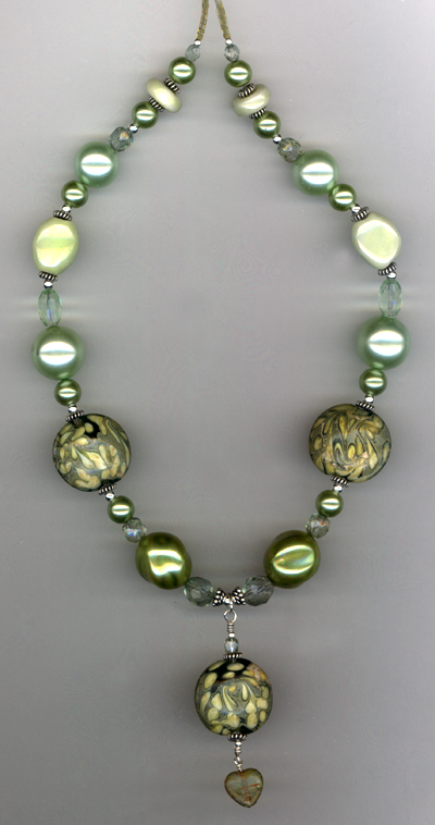 Grass Is Greener ~ Lampwork Necklace