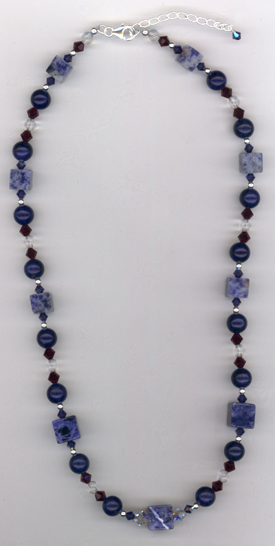 Truly Restored ~ Sapphire Lapis Gemstone Necklac
