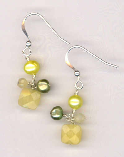 Lemonade Pearl Jade Earrings