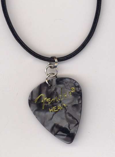Black Pearl Fender Guitar Pick Necklace