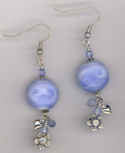Blue Bonnets Charm Earrings