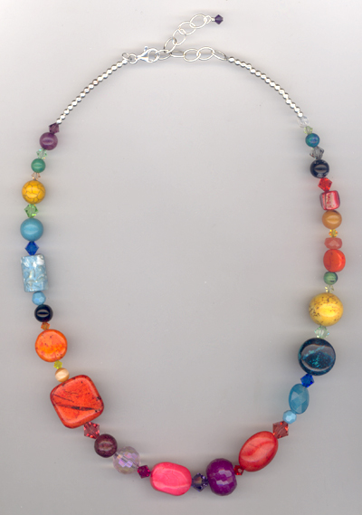 Color Splash ~ Gemstone Crystal Beaded Necklace