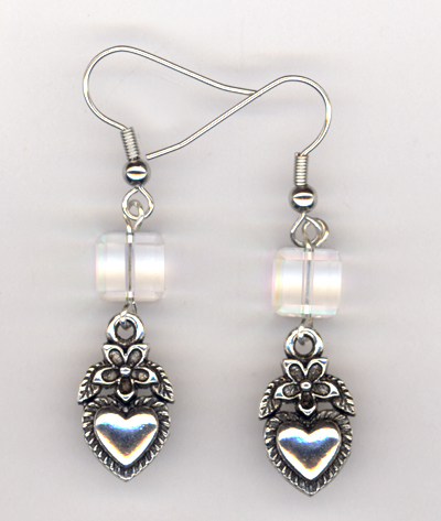 Charming Hearts ~ Crystal Earrings