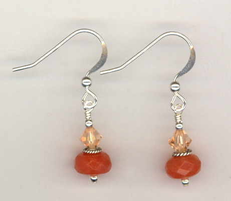 Peaches and Cream ~ Gemstone Crystal Earrings