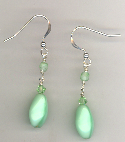 Fresh Melon ~ Beaded Crystal Earrings