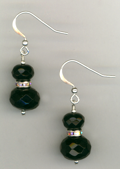 Jet Black Crystal Luxury Earrings