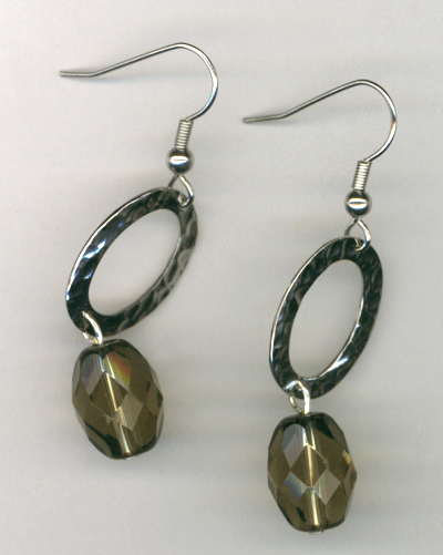 Smokey Majesty Crystal Link Earrings