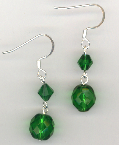 Emerald Holiday ~ Crystal Earrings