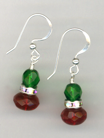 Merry Christmas Crystal Earrings
