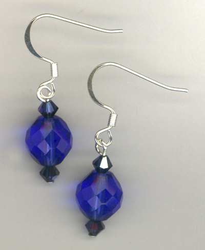 Sapphire Blue Sparkle Earrings