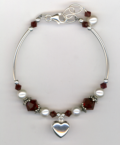 Revel In The Love ~ Siam Red Bracelet