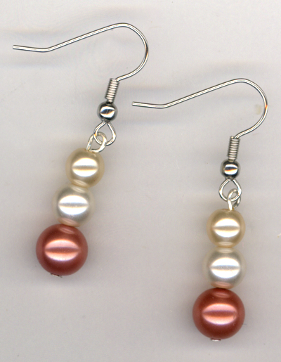 Triple Creme Pearl Earrings