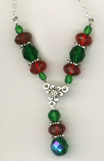 Merry Christmas Crystal Luxury Beaded Necklace