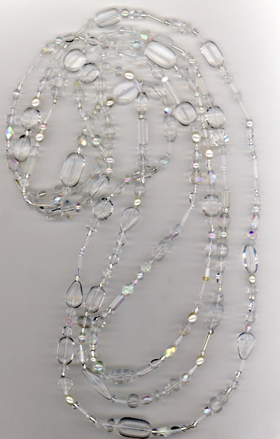 Clear As Crystal ~ Super Long Beaded Necklace