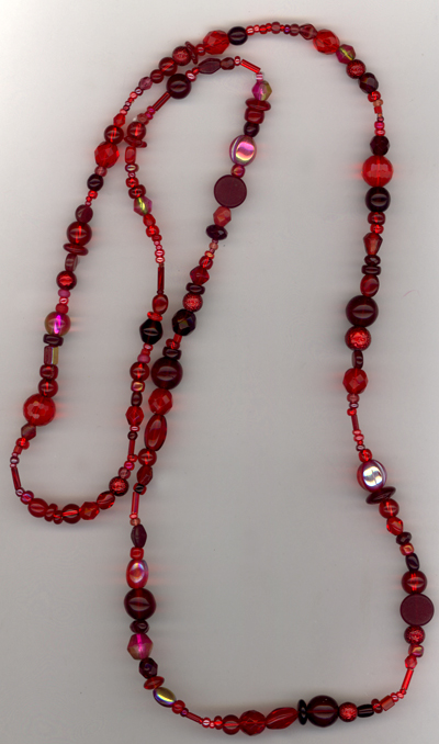 Lady In Red ~ Beaded Necklace