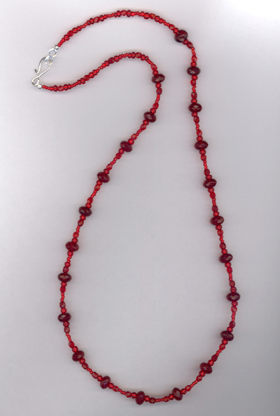 Red Crystal Sparkle Necklace