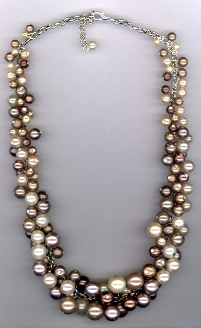 Creamy Cluster Pearl Necklace